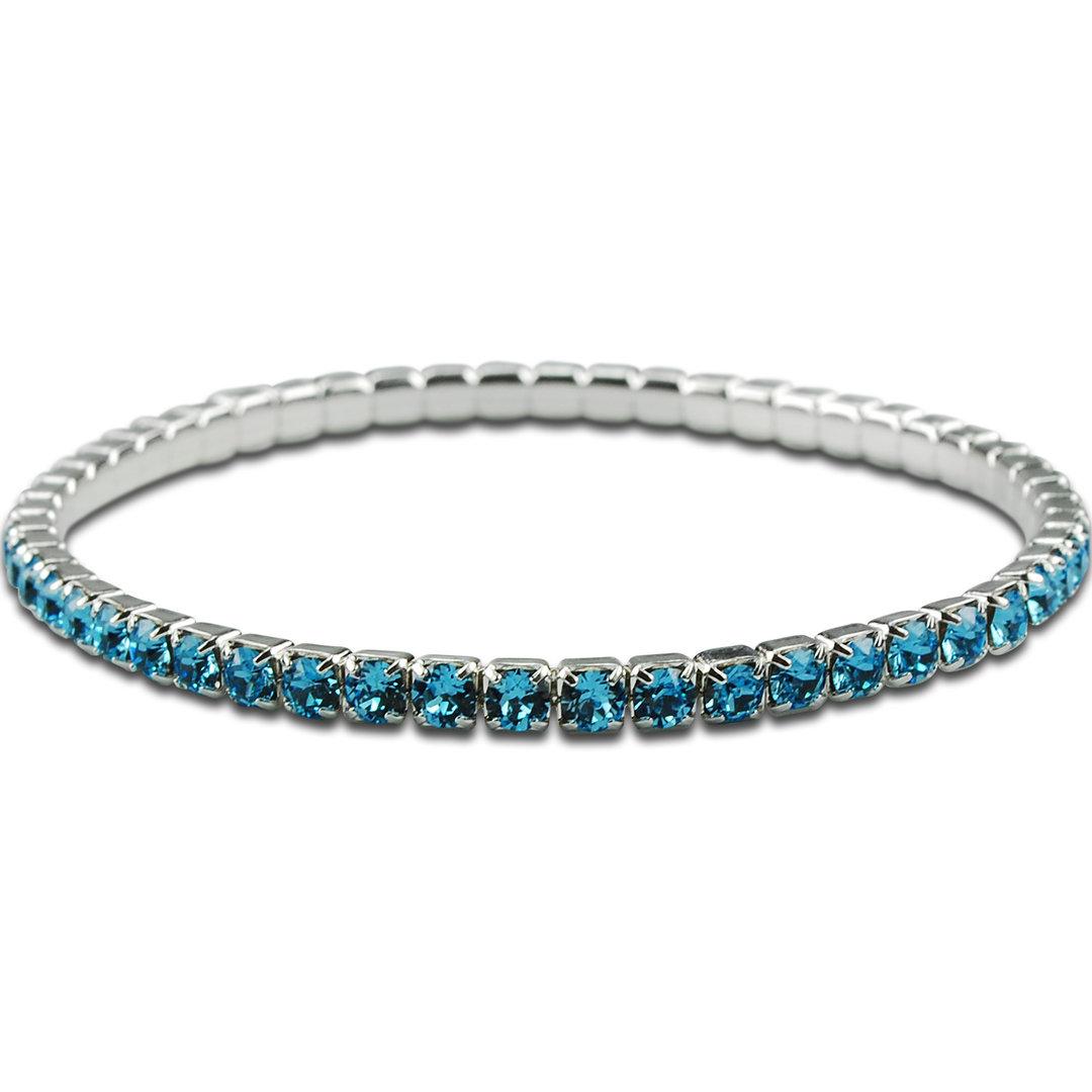 crystalp swarovski schmuck metall armband elastisch aqua blau. Black Bedroom Furniture Sets. Home Design Ideas