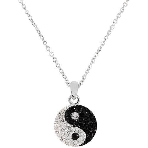 Crystalp Kette Anhänger Yin Yang chinesisches Symbol